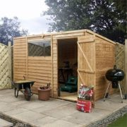 10ft-x-6ft-Overlap-Pent-Wooden-Flat-Roof-Storage-Shed-Brand-New-10x6-Wood-Sheds-MAINLAND-UK-DELIVERY-ONLY-0