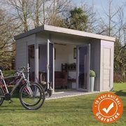 12x8-TG-Wooden-Contemporary-Summerhouse-with-Side-Storage-Shed-By-Waltons-0