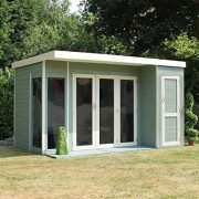 12x8-TG-Wooden-Contemporary-Summerhouse-with-Side-Storage-Shed-By-Waltons-0-5