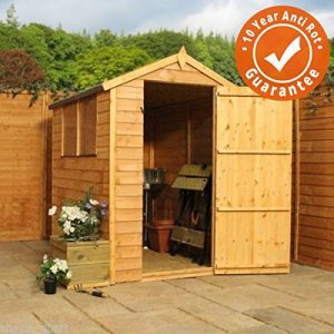 6x4-Overlap-Wooden-Apex-Garden-Shed-Styrene-Windows-Single-Door-By-Waltons-0