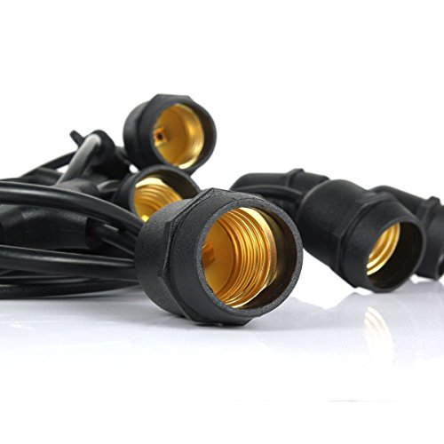 Outdoor String Lights Heavy Duty: CALISH 35ft Waterproof Outdoor String Lights Heavy Duty