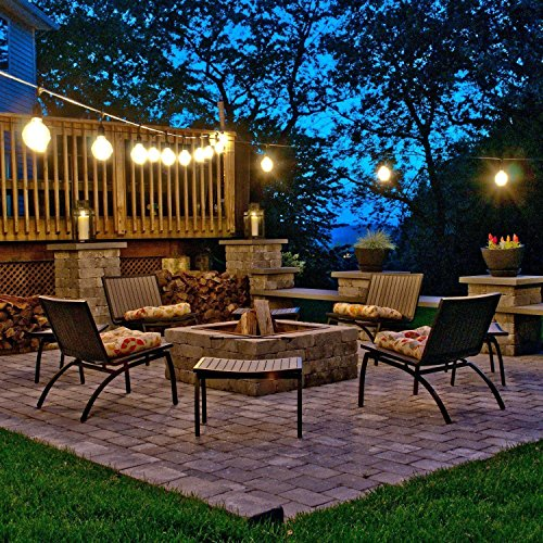 CALISH 35ft Waterproof Outdoor String Lights Heavy Duty
