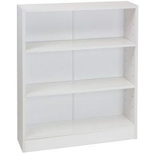 Hartleys-White-3-Tier-Bookcase-0