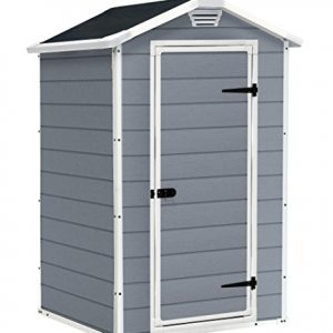 Keter-Manor-Vertical-4-x-3-ft-Resin-Outdoor-Garden-Storage-Shed-Grey-0