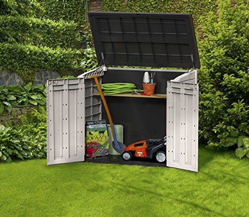 Keter store it out midi resin outdoor garden storage shed - Outdoor plastic shed storage ...