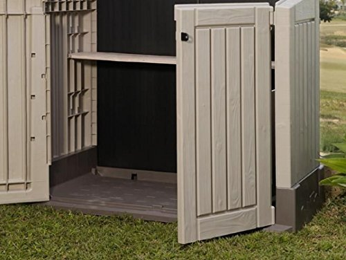 keter store it out midi resin outdoor garden storage shed beige brown house and garden store. Black Bedroom Furniture Sets. Home Design Ideas