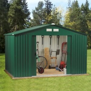 SpaceHuts-10x8-8x8-8x6-Metal-Garden-Storage-Shed-with-Free-Foundation-0