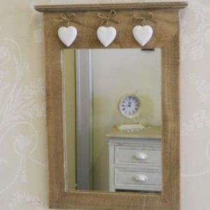 Vintage-Mirror-with-hanging-Hearts-255-x-40-x-1cm-0