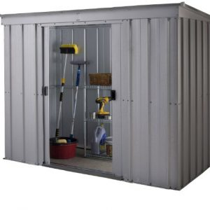 Yardmaster-International-64PZ-6-x-4ft-Store-All-Silver-Pent-Roofed-Metal-Shed-0