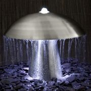 1ft-Abbey-Falls-Stainless-Steel-Mushroom-Water-Feature-with-LED-lights-Downward-Upward-Lights-0-1