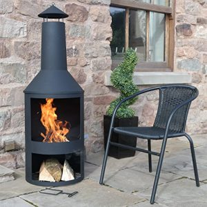 4FT-4-Extra-Large-Chimenea-Black-Fire-Pit-Burner-Patio-Heater-Outdoor-Garden-0