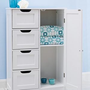 82x55x30cm-White-wooden-bathroom-cabinet-by-with-four-drawers-cupboard-suitable-for-bedroom-hallway-bathroom-anyroom-0