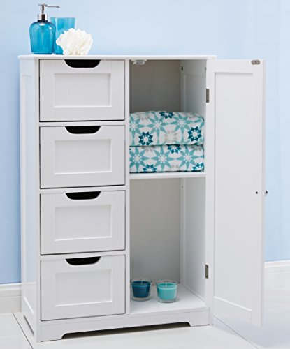 82x55x30cm white wooden bathroom cabinet by with four for White wooden bathroom drawers