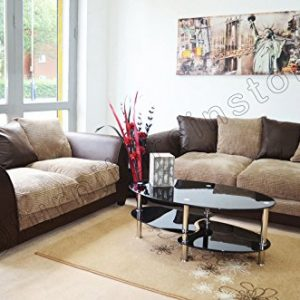 Dylan-Byron-Brown-and-Beige-Fabric-Sofa-Settee-Couch-32-Seater-0
