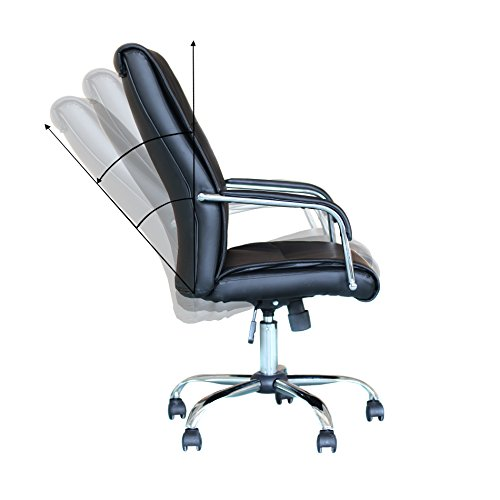 leather executive high chrome base office furnitue computer desk chair