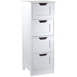 Home-Discount-Bathroom-4-Drawer-Floor-Standing-Cabinet-Unit-Storage-Wood-White-0