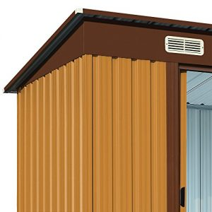 Tool-Shed-Metal-Garden-Foundation-18x108-Centimeter-Brown-Galvanized-Steel-335-Cubic-Meters-0