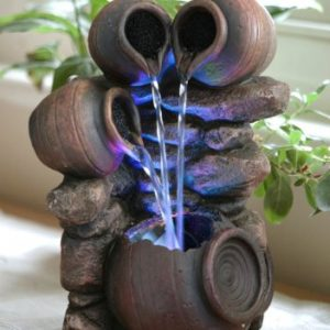 Triple-Trickle-Honey-Pots-Water-Feature-with-LED-Lights-0