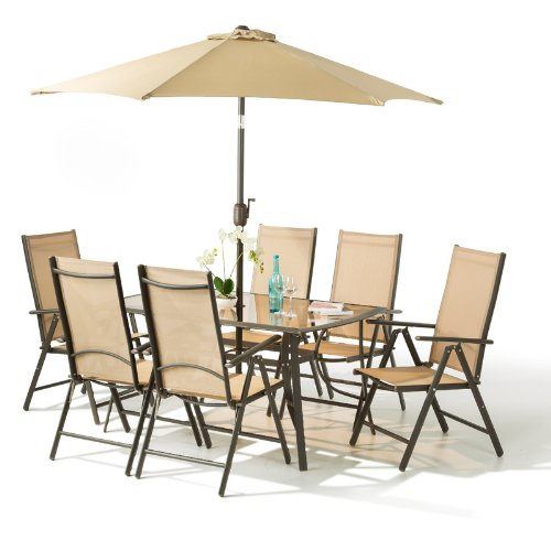 8 Piece Santorini Garden And Patio Set New
