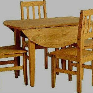 Corona-Round-Drop-Leaf-Dining-Table-4-Chairs-Distressed-Mexican-Pine-0