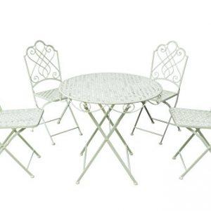 Gardman-Garden-Furniture-Bistro-Set-Folding-Patio-Set-4-Seater-Beige-0