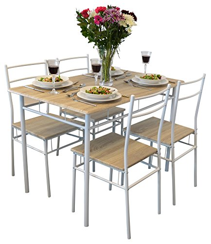 Harbour Housewares 5 Piece Kitchen Dining Table Chairs Set White House And Garden Store