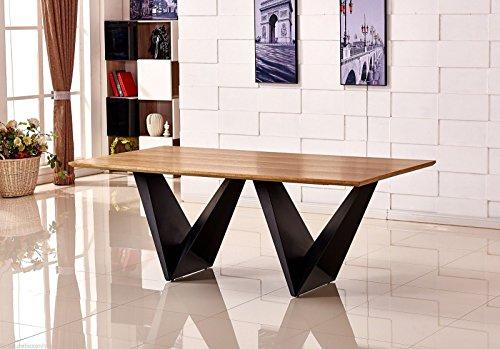 Large Elvira Modern Chic Rustic Metal Amp Wood Dining Table
