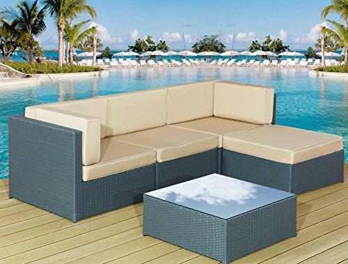 new garden rattan furniture lounge set corner sofa table. Black Bedroom Furniture Sets. Home Design Ideas
