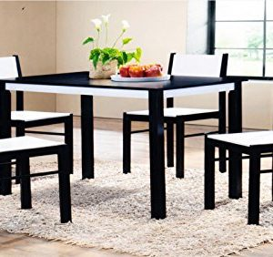 Wooden-Dining-Table-and-4-Chairs-Set-in-WengeWhite-Rubber-Wood-and-MDF-0