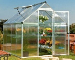 Palram-Mythos-Greenhouse-with-TwinWall-Polycarbonate-Aluminum-with-Base-0