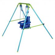 Blue-Folding-Swing-Outdoor-Indoor-Swing-Toddler-Swing-with-safety-Baby-Seat-for-babychirldrens-Gift-0-0