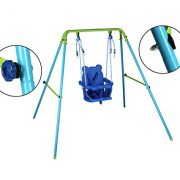 Blue-Folding-Swing-Outdoor-Indoor-Swing-Toddler-Swing-with-safety-Baby-Seat-for-babychirldrens-Gift-0-2