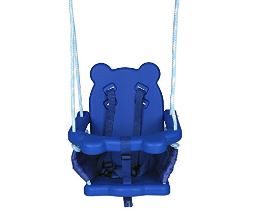 Blue folding swing outdoor indoor swing toddler swing with for Indoor swing seat