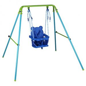 Blue-Folding-Swing-Outdoor-Indoor-Swing-Toddler-Swing-with-safety-Baby-Seat-for-babychirldrens-Gift-0