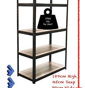 180cm-x-90cm-x-45cm-5-Tier-175KG-Per-Shelf-875KG-Capacity-Garage-Shed-Storage-Shelving-Units-5-Year-Warranty-0