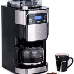 Vivo--15L-Bean-to-Cup-Digital-Stainless-Steel-Filter-Coffee-Maker-Machine-With-Integrated-Grinder-Barista-0