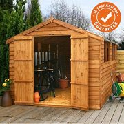 12x8-Overlap-Wooden-Apex-Garden-Shed-Windows-Double-Door-Roof-Felt-By-Waltons-0