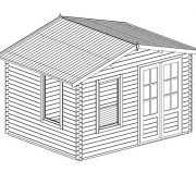 27m-x-33-Standard-Wooden-Log-Cabin-Studio-Garden-Home-Office-Craft-Room-Home-Gym-By-Waltons-0-5