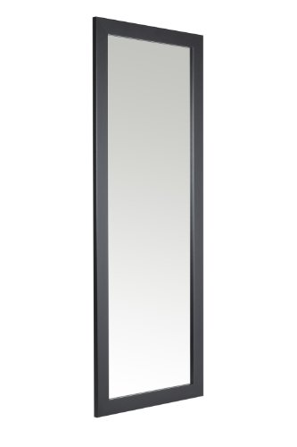 38-x-99cm-Black-Framed-Mirror-with-Wall-Hanging-Fixings-0