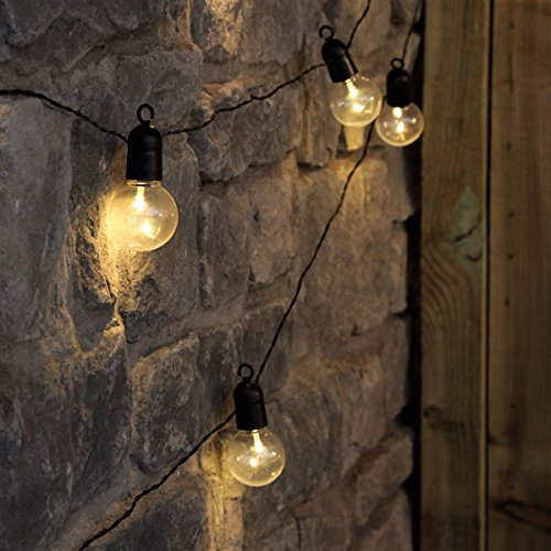 4 5m Outdoor Battery Powered Clear Bulb Festoon Lights