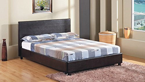 4FT-6-Double-Faux-Leather-Bed-Frame-in-Black-Prado-0