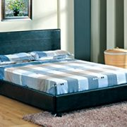 4FT-6-Faux-Leather-Double-Bed-Frame-in-Black-Quality-Material-Best-Price-Spring-Sale-Started-0
