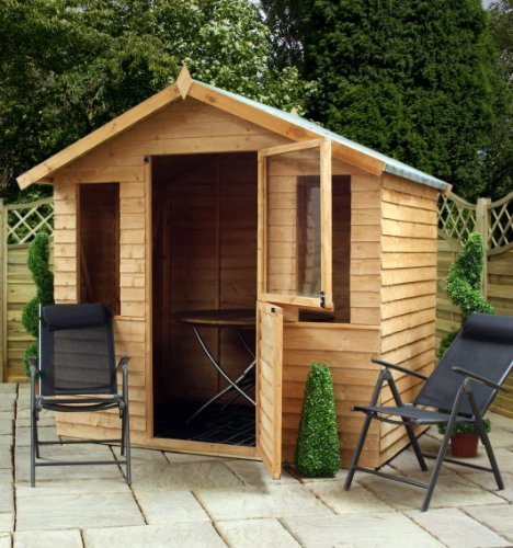 69-ft-W-x-48-ft-D-Wooden-SummerhouseLog-Cabin-Shed-0