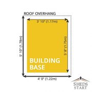 6x4-Overlap-Wooden-Apex-Garden-Shed-Styrene-Windows-Single-Door-By-Waltons-0-0