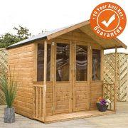 7x7-Bournemouth-Wooden-Summerhouse-Veranda-Styrene-Windows-Double-Doors-By-Waltons-0