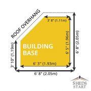 7x7-Wooden-Corner-Summerhouse-Shiplap-TG-Roof-Felt-Styrene-Windows-By-Waltons-0-0
