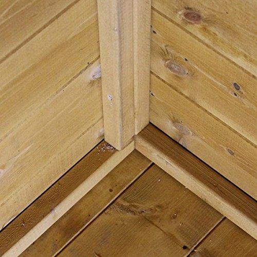 7x8 Shiplap Wooden Bournemouth Apex Summerhouse Veranda