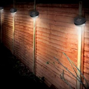 8-Solar-Powered-LED-Fence-Lights-Outdoor-Wall-Garden-Door-Lighting-Shed-Path-New-0
