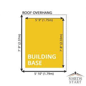 8-x-6-Overlap-Apex-Wooden-Garden-Shed-Single-Door-Felt-Included-By-Waltons-0-0