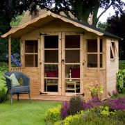 8x8-Sussex-Wooden-Garden-Summerhouse-Shiplap-TG-Opening-Window-Veranda-by-Waltons-0